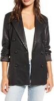 Blank NYC Blanknyc Faux Leather Blazer