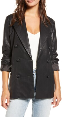 Blank NYC Faux Leather Blazer