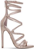 Carvela Gilded metallic faux-leather sandals