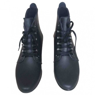 Loeffler Randall Black Rubber Ankle boots