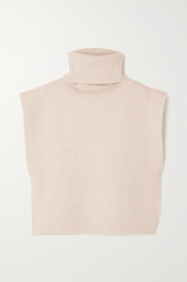 Totême Ribbed Wool-blend Turtleneck Bib