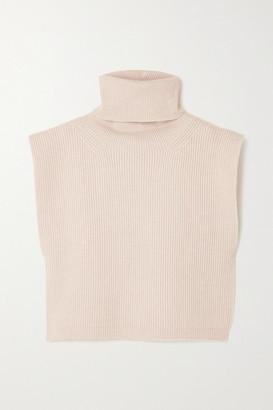 Totême Ribbed Wool-blend Turtleneck Bib - Neutral