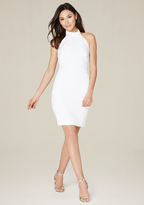 Bebe Crepe Twill Open Back Dress