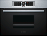 Bosch CDG634BS1B Single Oven with Steamer, Brushed Steel