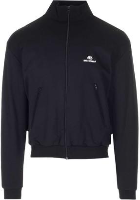 Balenciaga Logo Zipped Jacket