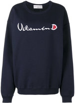 Drifter Navy Blue Helios embroidered sweatshirt