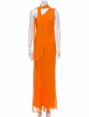 Ronny Kobo Silk Long Dress w/ Tags Orange