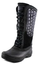 The North Face Thermoball Utility Women Round Toe Canvas Black Snow Boot.