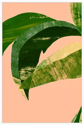 Jonathan Bass Studio Palm Leaf, Decorative Framed Hand Embellished Canv