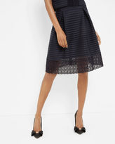 LOTEE Sheer panel midi skirt