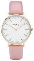 Cluse Women's La Boheme Gold Leather Strap Watch
