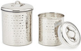 One Kings Lane Set of 2 Anston Hammered Canisters - Silver