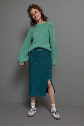 Maeve Alicia Sequined Midi Skirt