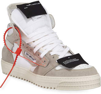 Off-White Off White Men's Low 3.0 High-Top Suede Sneakers