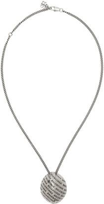 Balenciaga Silver Precious Logo Necklace