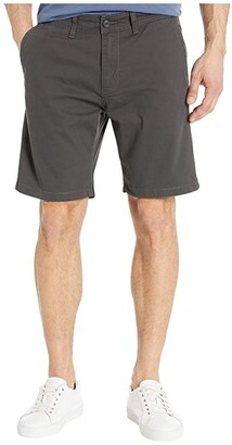 Lucky Brand Flat Front Shorts (Clancy Blue) Men's Shorts