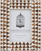 "Shiraleah Boheme Triangle Inlay 4"" x 6"" Picture Frame"