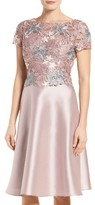 Adrianna Papell Women's Guipure Lace & Mikado Dress