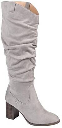 Journee Collection Aneil Boot - Extra Wide Calf (Grey) Women's Shoes