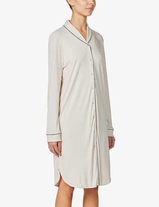 Hanro Natural Comfort long-sleeved woven nightdress