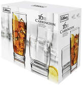 Libbey Set of 16 Carrington Tall and Short Glasses