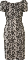 Bonded Lace Pencil Dress