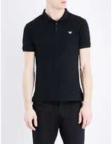 Armani Jeans Logo-embroidered Cotton-piqué Polo Shirt