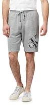 Calvin Klein Grey Logo Print Shorts