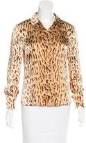 Valentino Leopard Print Silk Top