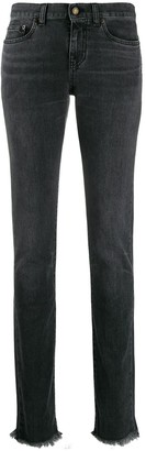 Saint Laurent Straight-Leg Faded Jeans