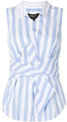 Paule Ka Striped Twist-Front Shirt