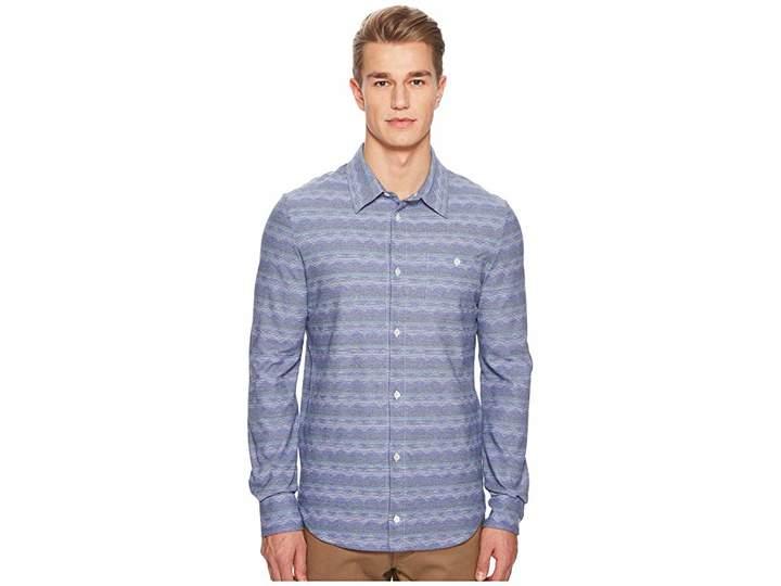 Missoni Jersey Denim Zigzag Button Up Shirt Men's Clothing