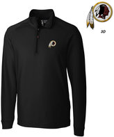 Cutter & Buck Men's Washington Redskins 3D Emblem Jackson Overknit Quarter-Zip Pullover