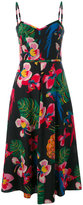Valentino tropical print midi dress - women - Silk - 40