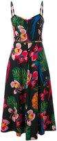 Valentino tropical print midi dress