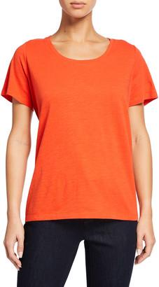 Eileen Fisher Organic Cotton Jersey U-Neck Short-Sleeve Tee