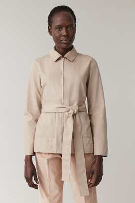 Cos Belted A-Line Cotton Jacket