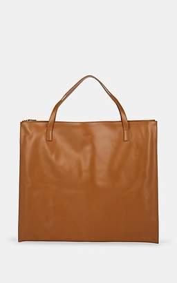 Jil Sander Women's Oversized Leather Tote Bag - Med. brown