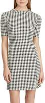 Chaps Petite Houndstooth Jacquard Shift Dress