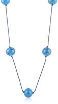 Murano Naoto Blue Glass Bead Long Necklace