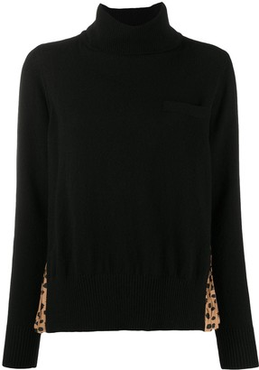 Sacai Animal-Print Combined Jumper