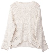 Goodnight Macaroon 'Frances' Openwork Cable Knit Crew Neck Sweater (3 Colors)