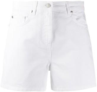 MSGM Boom-Print Denim Shorts