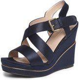 Dorothy Perkins Womens Navy Wide Fit 'Rozzy' Wedges- Blue