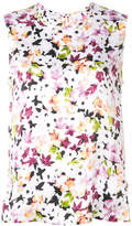 Equipment floral print tank top