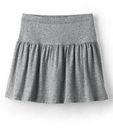 Lands' End Girls Solid Knit Skort-Gray Heather