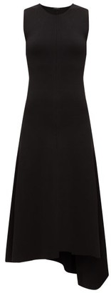 Joseph Bowie Asymmetric Knitted Midi Dress - Womens - Black