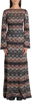 M Missoni Long Dress In Lurex Knit