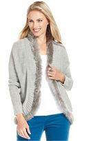 Charter Club Cardigan, Long-Sleeve Faux-Fur