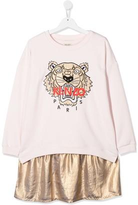 Kenzo TEEN panelled sweatshirt dress